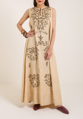 Beige Sleevless Dress