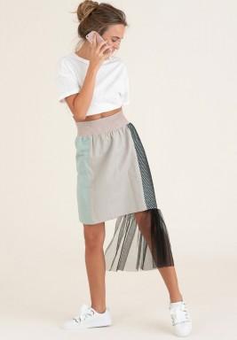 Contrasting high waist skirt