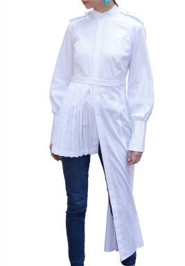 Asymmetrical Pleated Shirt