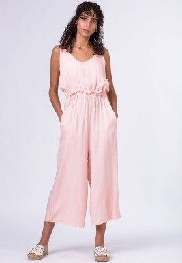 Blush backless jumpsuit