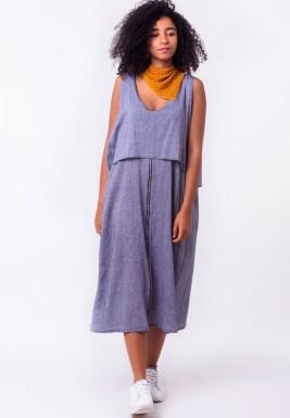 Sleeveless Zip Front Dress