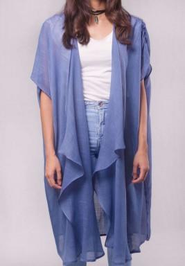 Longline Blue Sheer Kimono