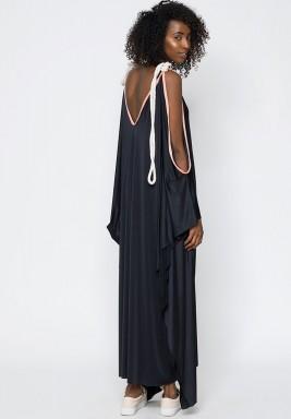 Black Cami Tie Rope Dress