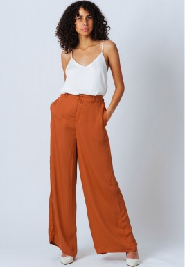 Brick Wide Leg Pants