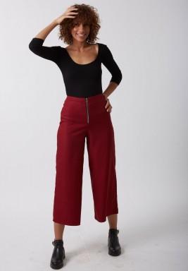 Front zip pants
