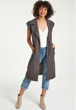 Khaki cargo vest