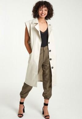 Ivory cargo vest