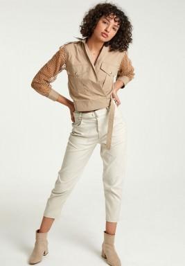 Wrap over safari shirt