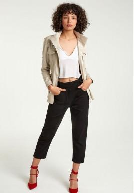 Black belted pants
