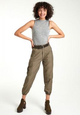 Olive utility cargo pants