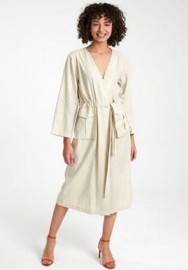 Drawstring linen tunic