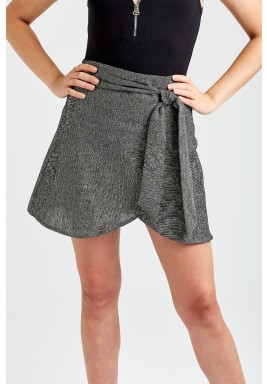 Grey Sofia Wrap Skirt