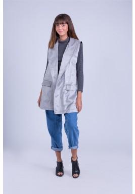 Silver suede jacket