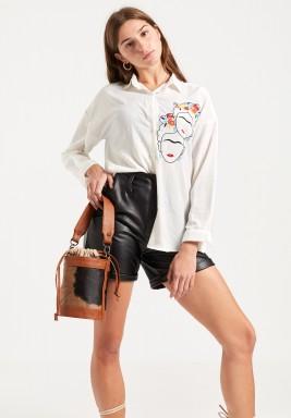Frida Embroidered Shirt