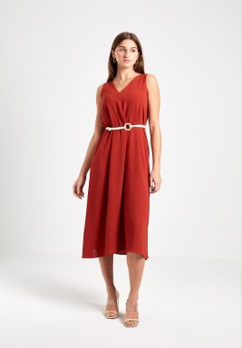 Rust Daydream Sleeveless Dress