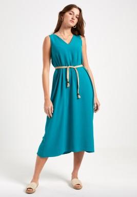 Green Daydream Sleeveless Dress