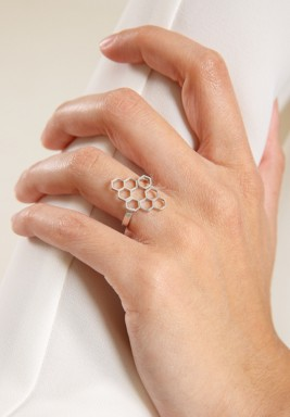Nectar Rhodium Plated Ring