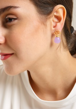 Nectar Chalcedony Earrings