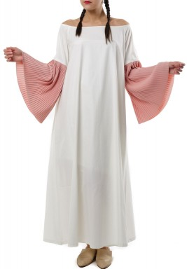 Pleated sleeves kaftan