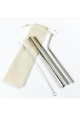Strawsome silver set of 3