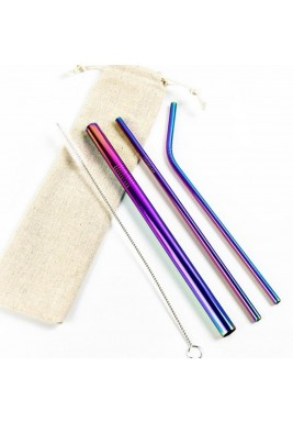 Strawsome rainbow set of 3