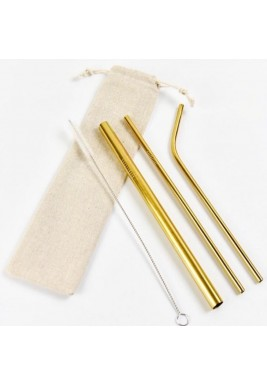 Strawsome gold set of 3