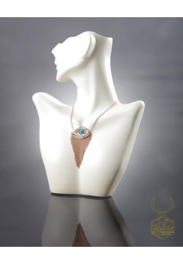 Pure Silver Handcrafted Rose Gold Plated Necklace - Limited Edition