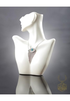 White Gold Plated Pure Silver Handcrafted Necklace - Limited Edition