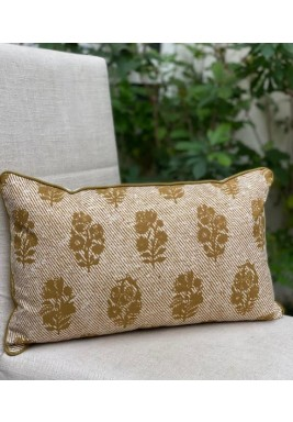 Beige Cotton Cushion