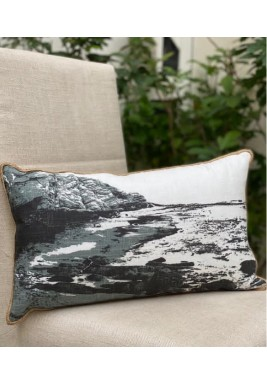 Black & White Sea Pattern Cushion