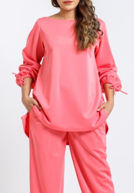 Pink Balloon Sleeves Top