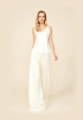 White Top And Pants Set