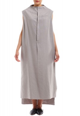 Sleeveless Jallabiya Grey