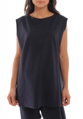 Navy Muscle tee jersey