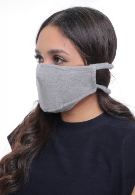 Light Grey Straps On Head Adult Mask