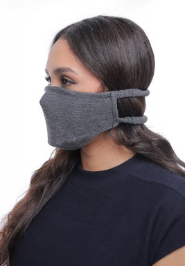 Dark Grey Straps On Head Adult Mask
