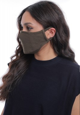 Military Green Straps On Ears Adult Mask