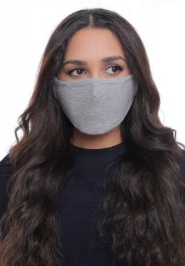 Light Grey Straps On Ears Adult Mask