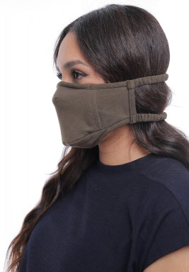 Military Green Straps On Head Adult Mask