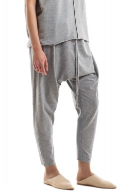 Sarouel jersey pants - grey