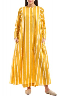 Yellow & White Striped dress