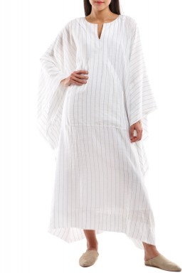 Striped Oversized Pocket Kaftan