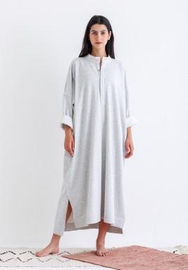 Grey Oversized Shirt Kaftan