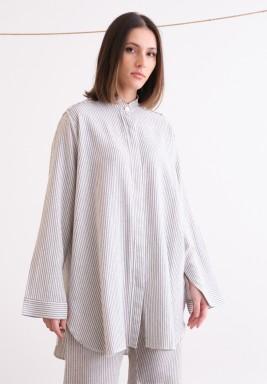 Grey Striped Vintage Shirt