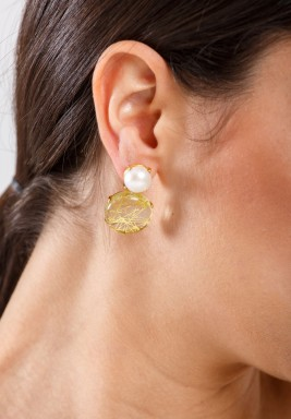 Nectar Golden Rutile Earrings