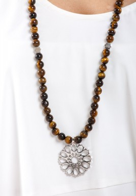 Mehrab Tiger Eye Necklace