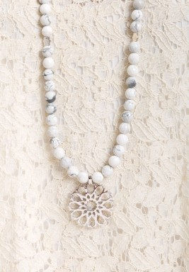 Mehrab Howlite Necklace
