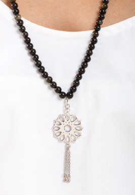 Mehrab Obsidian Prayer Beads