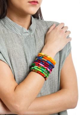 ZULU colorful set of 10 bangles