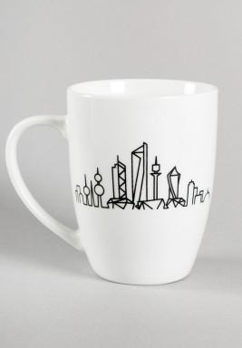 Kuwait skyline mug